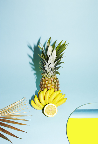 24_colleen-durkin-photography-still-life-color-pineapple-banana-mirror