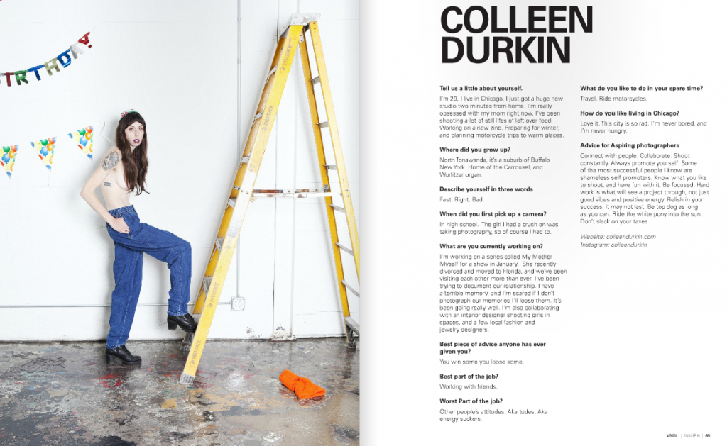 colleen durkin photography VNDL magazine interview